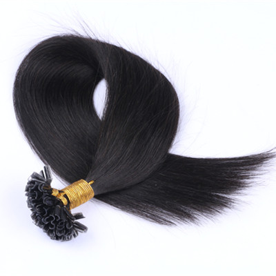 U tip hair extension,Double drawn Virgin Pre-Bonded Extension I U Flat Tip Hair Weave HN191