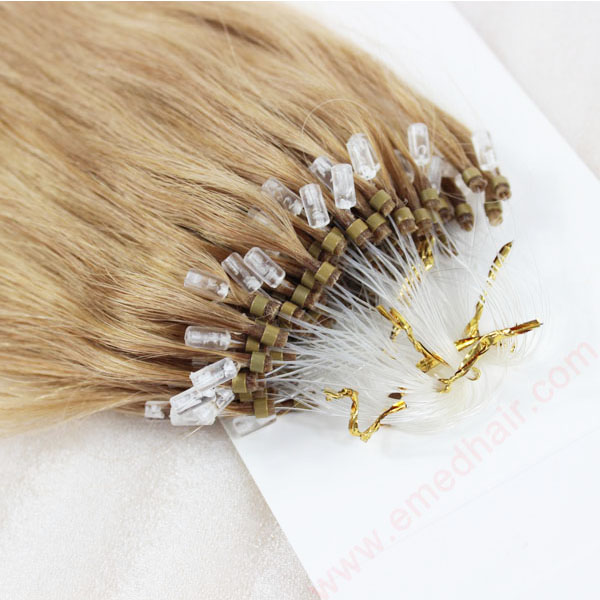 100% Brazilian Remy Hair Straight Micro Ring Loop Human Hair Extensions   LM098