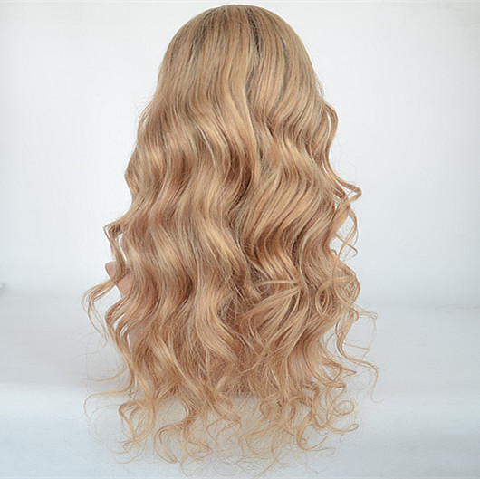 Human hair full lace wig lace front wig HN131