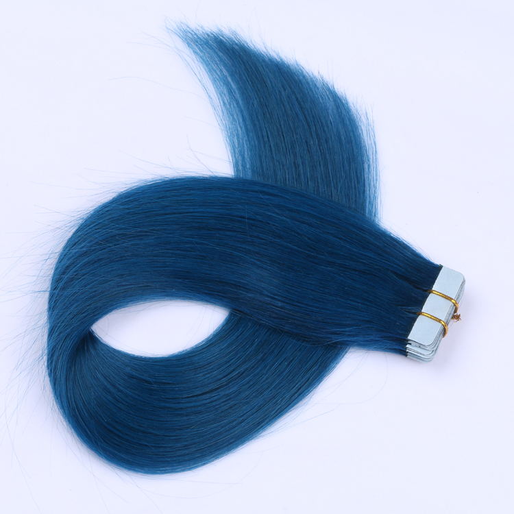 100 human hair extensions American blue tape hair LL-005