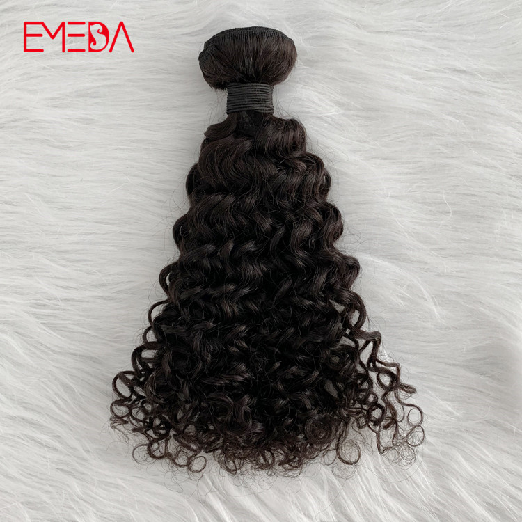Double drawn raw Indian virgin hair water curly unprocessed 100 human hair YJ312