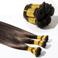 Hand Tied  Extension  Silky Straight European  Indian Remy Human hand tied hair weft Top Quality Hair YL206