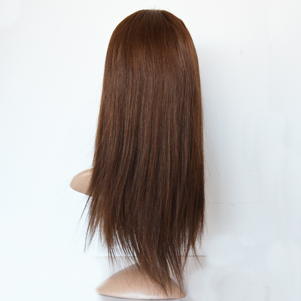wholesale silk base ftont lace wig,silk base human hair jewish wig kosher wigs,glueless full lace wig with baby hair HN154