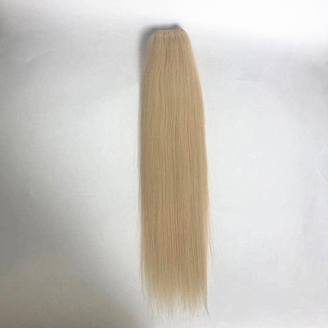 Blonde mixed color 22 and 12 thick hair Chinese hair natural looking end WK256