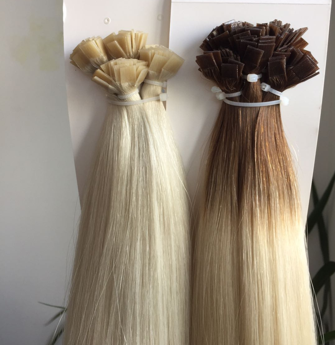 Middle Brown Ombre Light Blonde #60 Pre-bonded Hair 1 Gram per Strand WK220