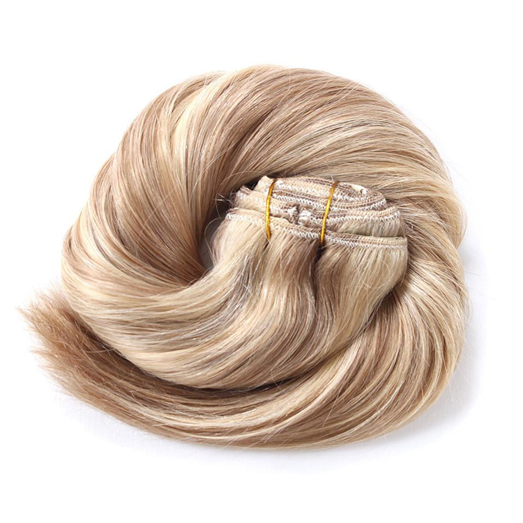Belle Hair Extensions 18 613 Mixed Color Clip In Hair Extensions