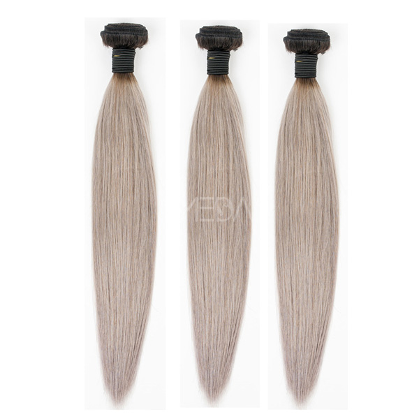 New Arrival brazilian ombre 1b grey hair weaving straight hair CX028