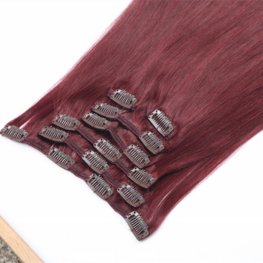 Cheap clip on hair extensions,wholesale remy hair extension clip on,raw clip in hair extensions HN212