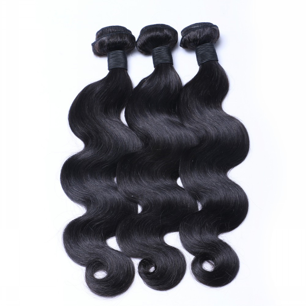 Brazilian human hair sew in weave LJ197