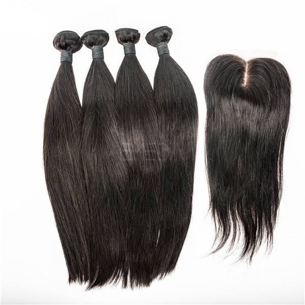 Malaysian hair straight hair weave  LJ65