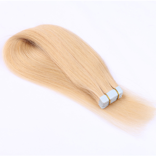 Tape in hair extensions 613# double drawn human hair with good quality YL028
