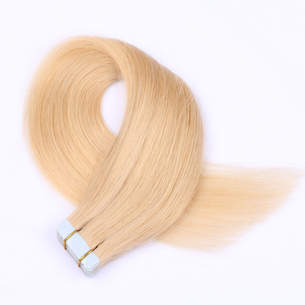 Brazilian Straight Blonde Remy Hair Tape In Human Hair Extensions   LM104