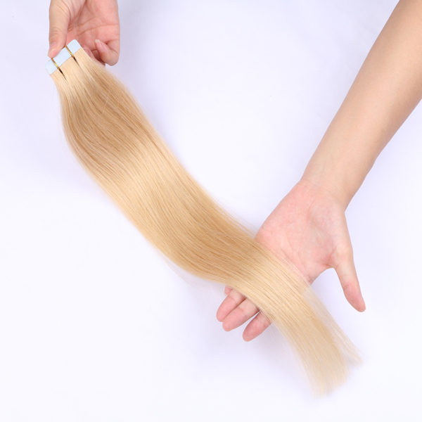 China Double Drawn Tape Hair Human Remy Hair Extensions Supplier Thick Hair Factory LM320