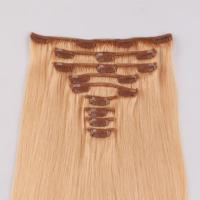 Real Human Hair Clip in Extensions with customer logo packing JF100
