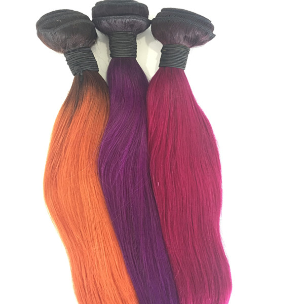 Human hair weave bundles extension color in stock yl141