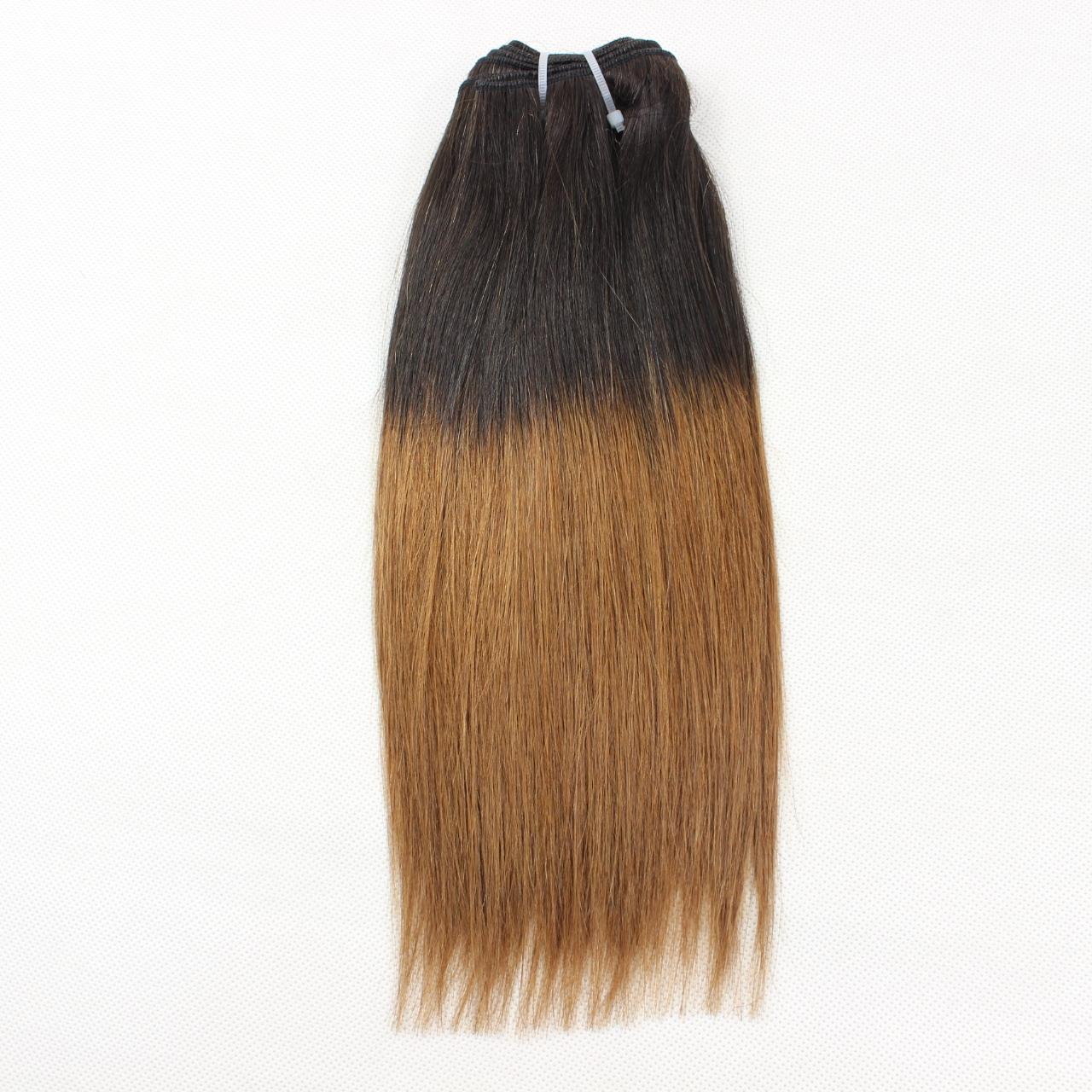 Ombre 1B/Brown 2T Color 100% Human Hair Weft Extensions YL167