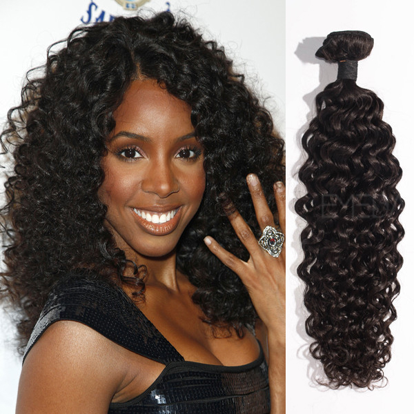 Peruvian virgin hair Kinky curl extensions  LJ23