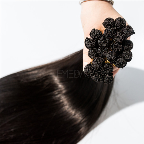 Blonde color hand tied Salon hair extensions  LJ33