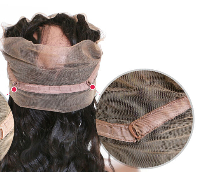 360 lace frontal  virgin human hair closure YL026