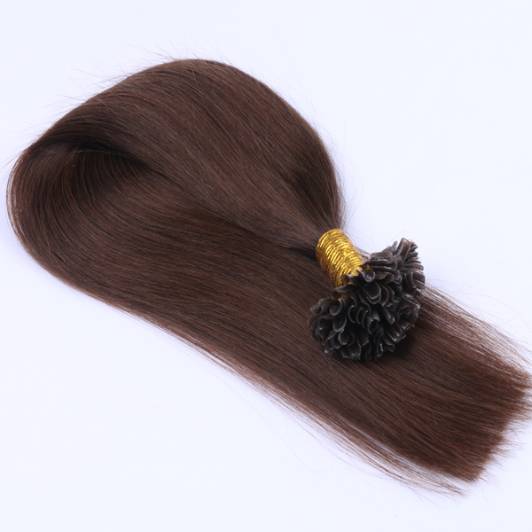 Natural u tip cheap human hair extensions hair with factory price JF342