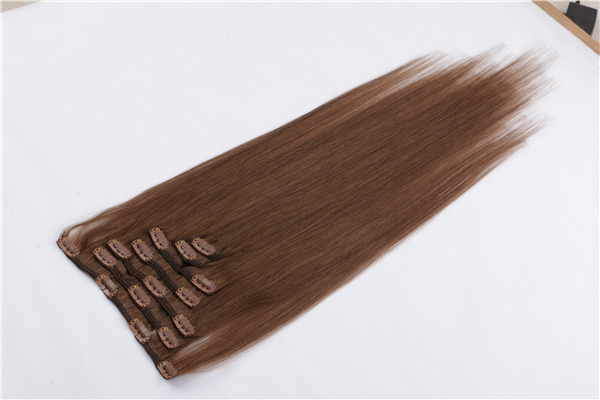Dark brown clip in hair  extensions 120g 160g 300g hair extensions YL363