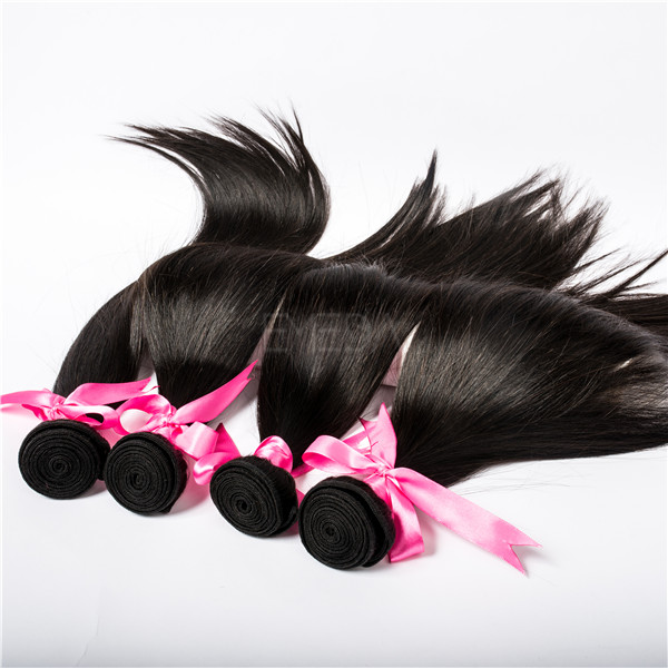Raw Peruvian virgin hair weave silk Straight with closure hot sale YL033