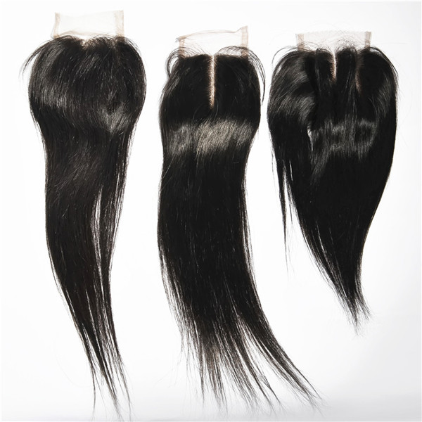 Human hair bundles with closure 100% Unprocessed Hair Brazilian Virgin Hair Silk Base Lace Frontal Closure HN241