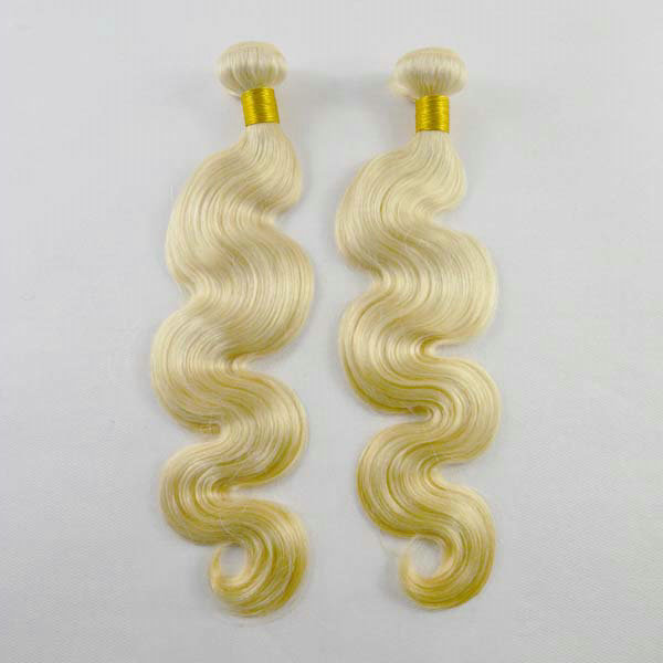 New style cuticle aligned hair extensions 613 Body wave Brazilian hair bundles YL076