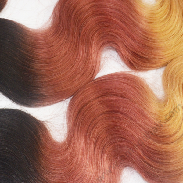 Qigndao Emeda standard weight 100G 2T ombre color hair weave ,3T ombre color hair extension HN166