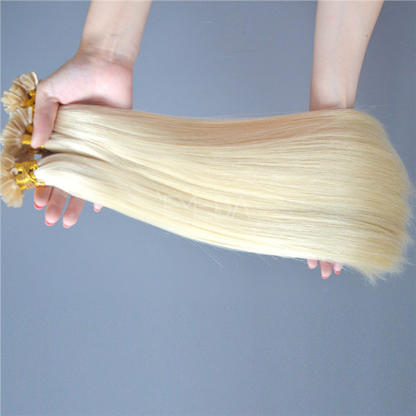 U-tip hair extensions,u tip hair,blonde	hair extension clip HN 369