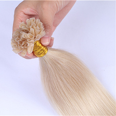 Keratin u tip hair extension ,pre bonded nail hair extension ,unprocessed fusion hair 613,China manufacturer wholesaleHN193