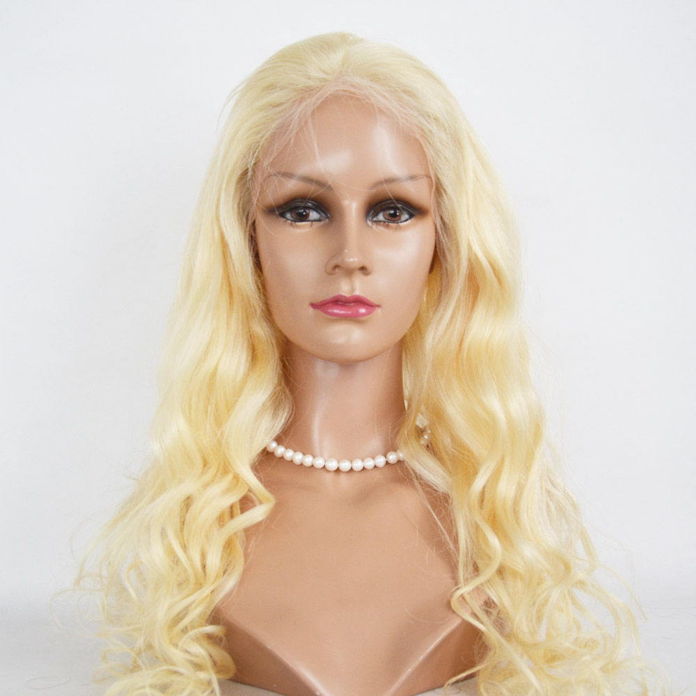 Brazilian Real Human Hair Lace Front Wigs Blonde Color Fashion   LM156