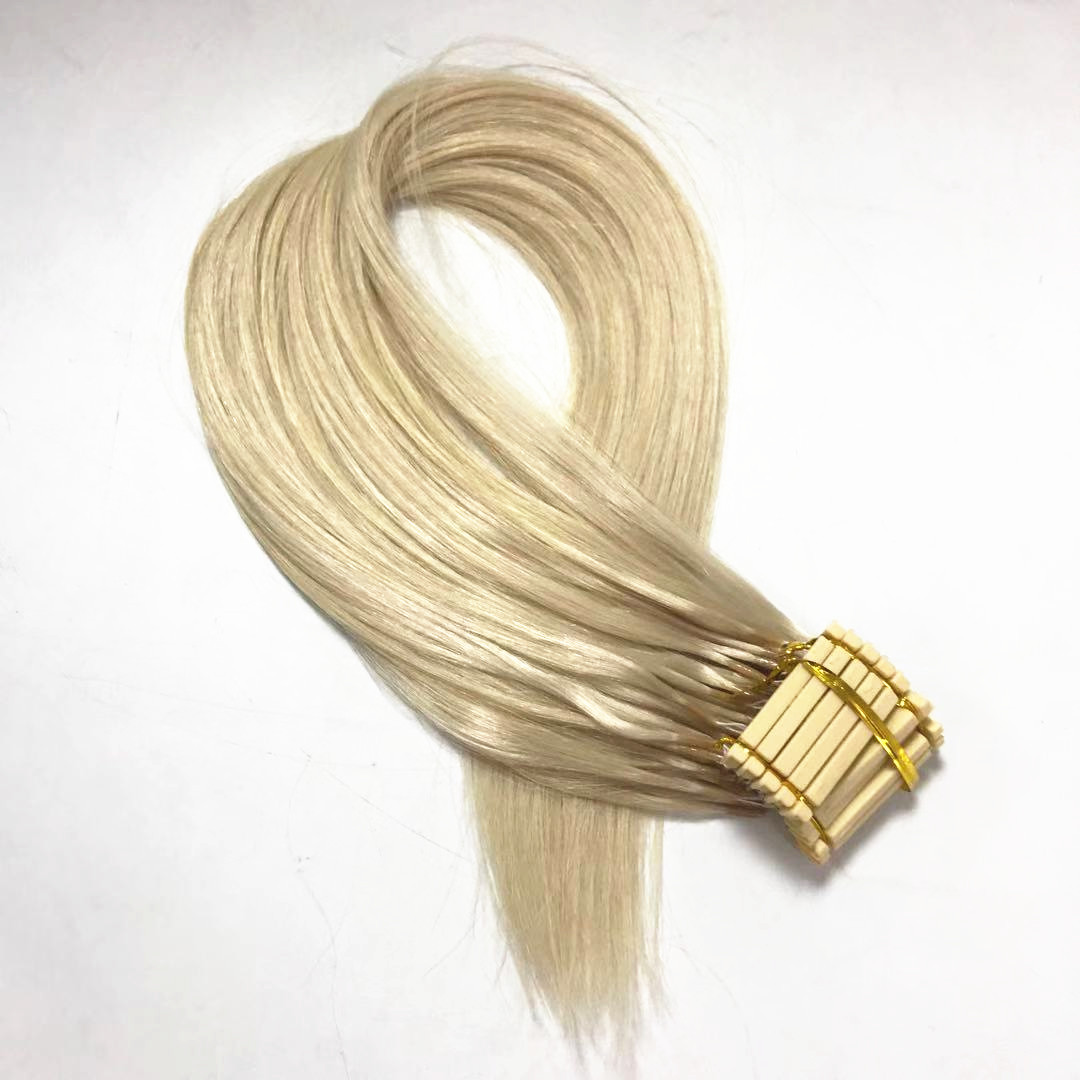 6D hair extension generation 2 10 strands in a row easy to install light blonde 60A WK282
