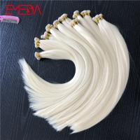 Light blonde hand tied virgin cuticle hair weft hair extension factory YJ285