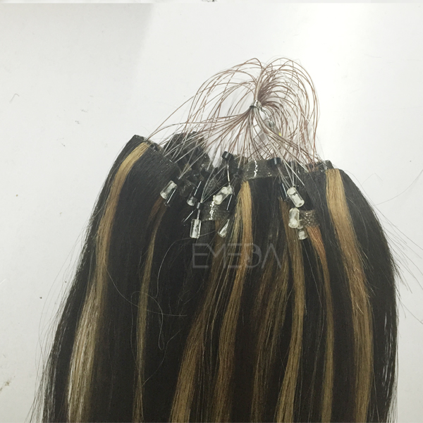 hanging ring hair extension Brazilian virgin human hair directly from factory CX