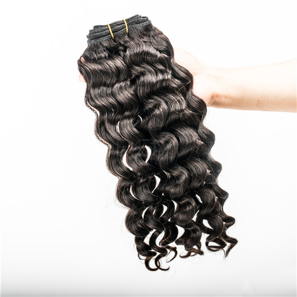 Malaysian hair jerry curl hair weave  LJ57