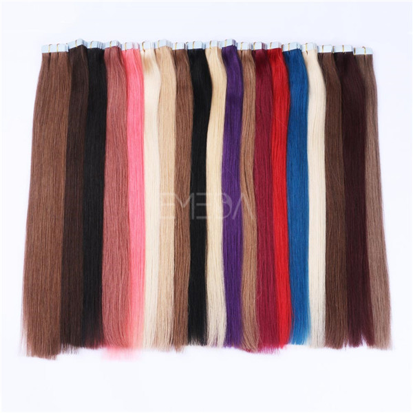 Wholesale Tape In Hair Extentions 100% High Grade Brazilian Human Tape HairYL224
