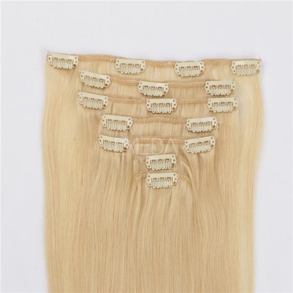 Clip In Human Hair Extensions 30 Inch Blonde Xs069 Emeda Hair