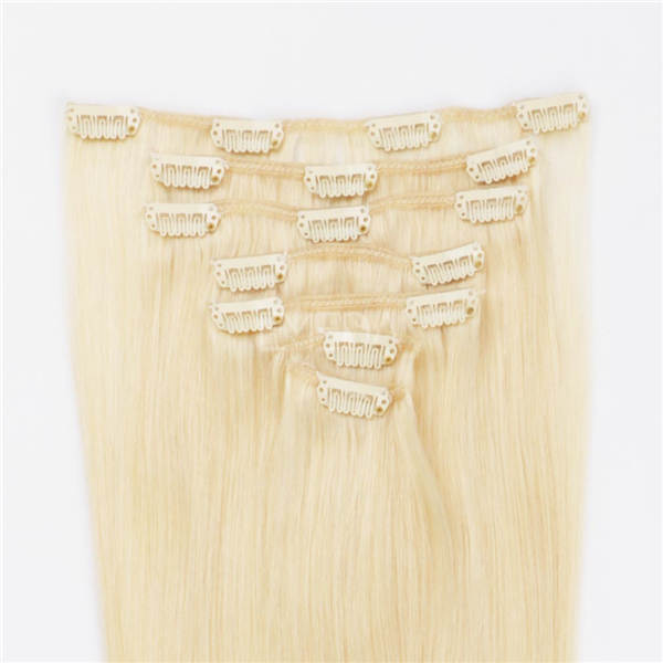 Russian Hair Extensions USA China Remy Human Clips On Hair Extensions Manufactures LM358