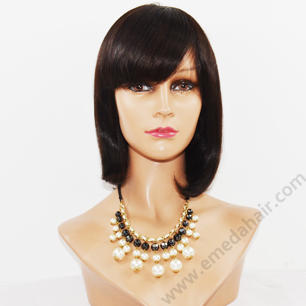 2018 Fashion Full lace wig human hair wig bob wig HN121