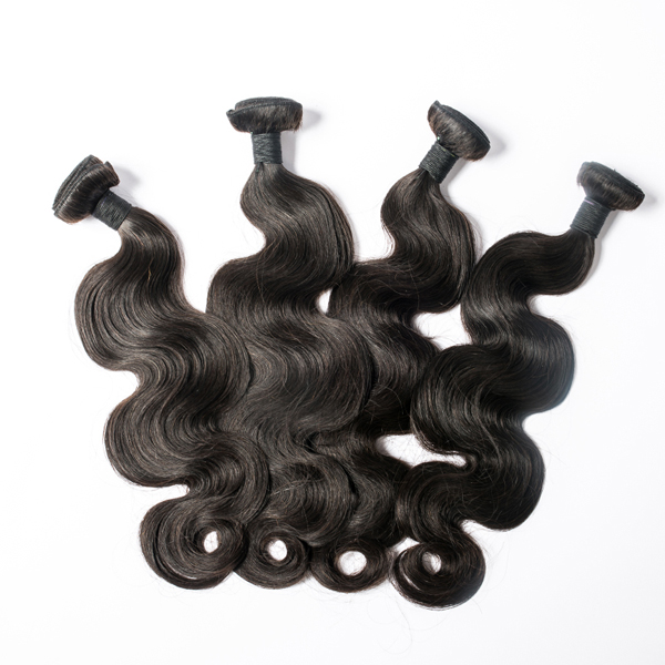 Natural Black Brazilian Body Wave Hair Bundles WW004