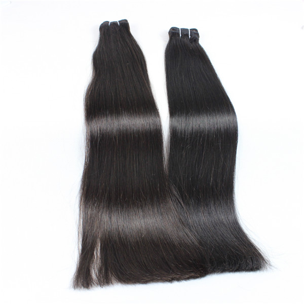 Un-remy hair straight Brazilian hair extension XS024