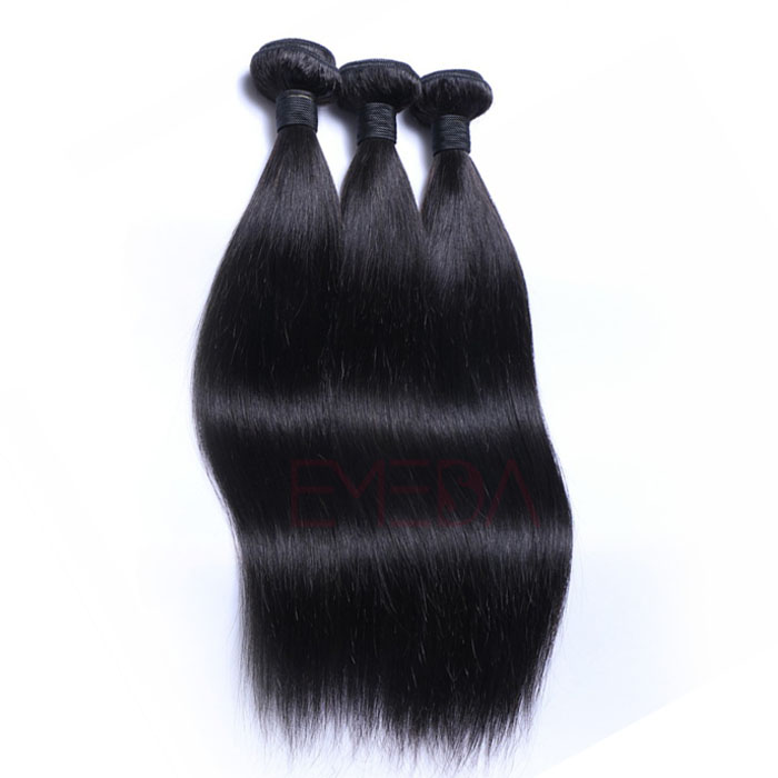 Brazilian straight hair weaves Unprocessed human hair extensions HW002