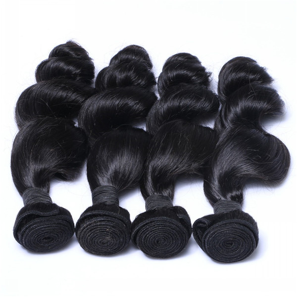 Original Human Hair Weave virgin Brazilian Hair Bundles Cuticle Intact Hair Weft   LM205