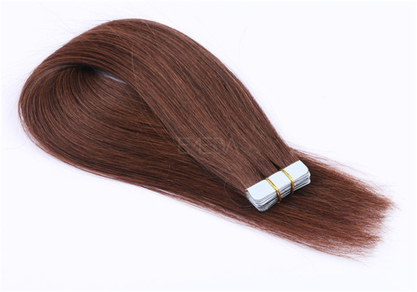 Dark brown 100 human hair tape in extensions  XS082