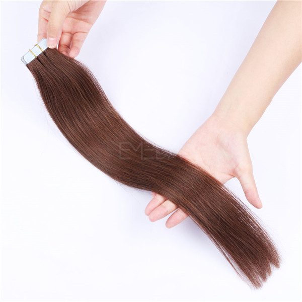 Real Human cuticle remy hair european tape in hair extensions for beautiful ladies YL226