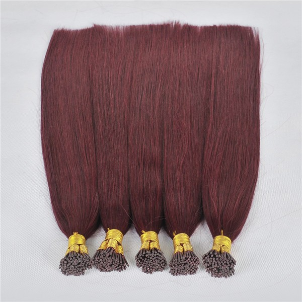 Wholesale remy human i tip hair extensions    LM001
