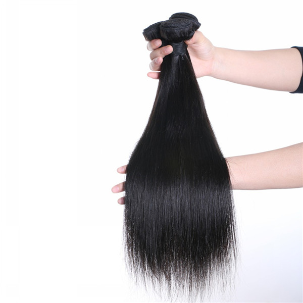100 Human Natural Color Straight Hair Weft Hair Extension Xs003