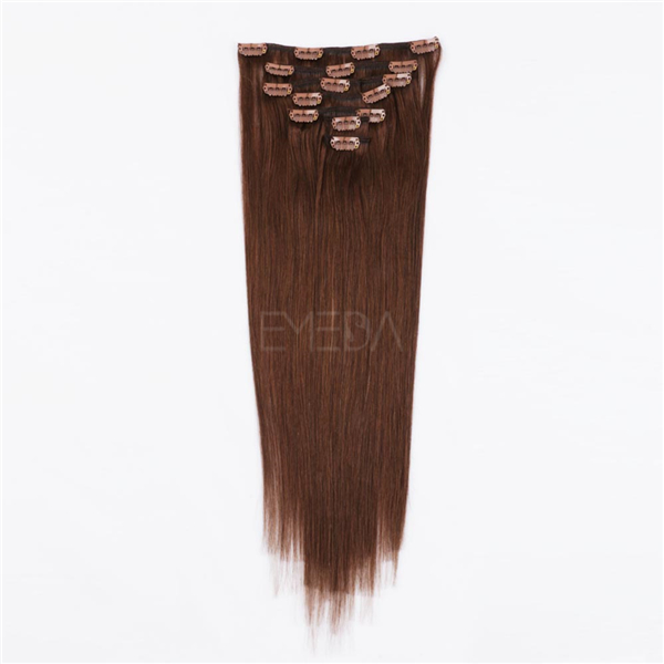 Clip In Human Hair Extensions Black WJ071
