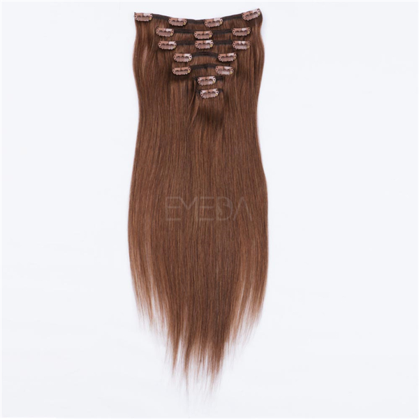 Clip In Human Hair Extensions Black WJ072